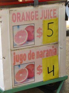 orange juice o jugo de naranja